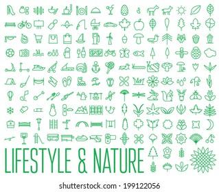 Lifestyle & Nature Icons