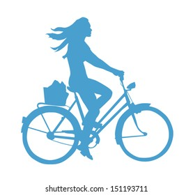Lifestyle Silhouette Of A Girl On A Bike