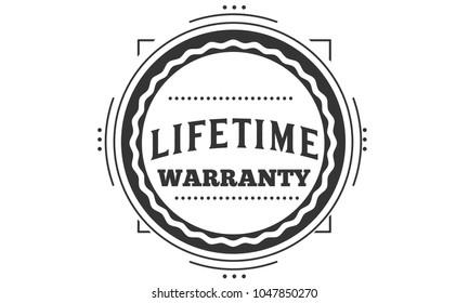 lifetime warranty icon vintage rubber stamp guarantee
