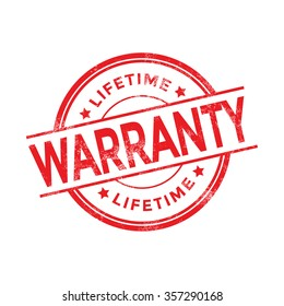 Lifetime Warranty Rubber Stamp
