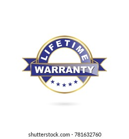 Lifetime Warranty Seal Icon and Gold Color