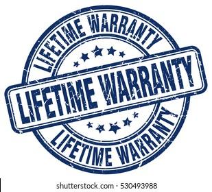 lifetime warranty. stamp. blue round grunge vintage lifetime warranty sign