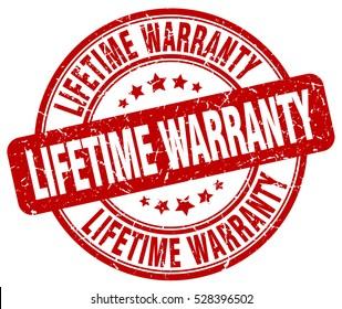 lifetime warranty. stamp. red round grunge vintage lifetime warranty sign