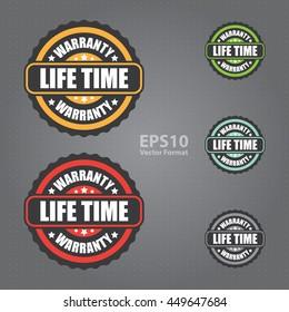 lifetime warranty vector icon