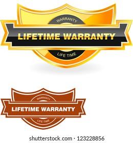 LIFETIME WARRANTY. Vector illustration.