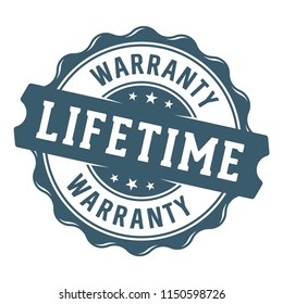 Lifetime warranty vector label/stamp