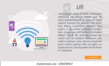 Lifi Conceptual Banner