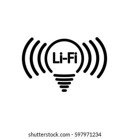 LiFi icon, flat design template, vector