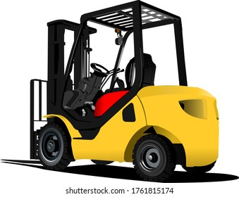 Lift truck. Forklift. 3d color illustration