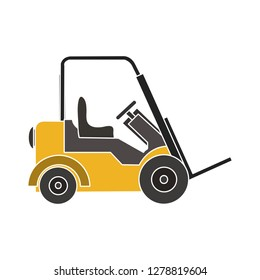 lift truck icon-transportation sign-trucking icon-delivering sign-logistic illustration-shipping vector