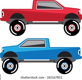 Lifted Pickup Truck vector