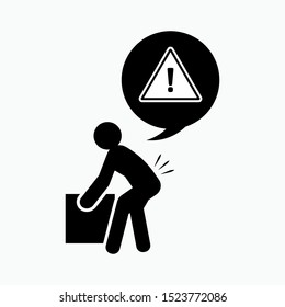 Lifting Hazard Icon - Vector, Sign and Symbol for Design, Presentation, Website or Apps Elements.