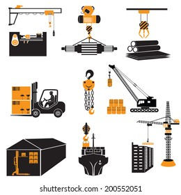 lifting machinery vector illustration.
