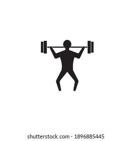 lifting weights icon  vector design  illustration ,logo template