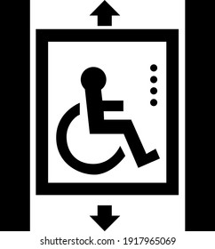 Lifts for disabled people sign board