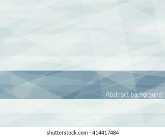 Light abstract subtle background with grey horizontal stripe. Gray vector graphic pattern