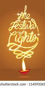 light art of the festival of lights background