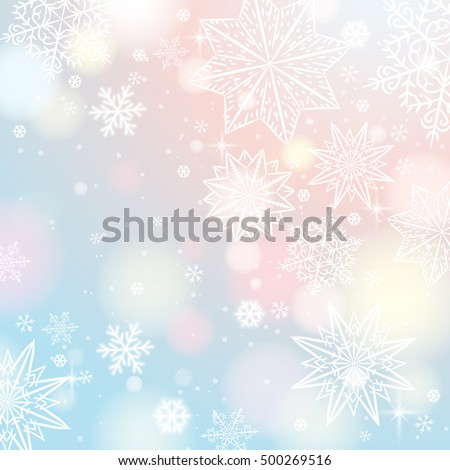 light-background-snowflakes-stars-vector