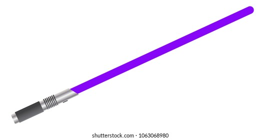A light beam sword isolated on a white background
