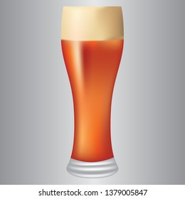 Light beer in a tall glass tumbler