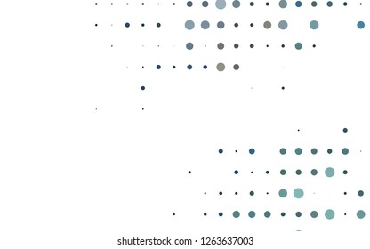 Light Black vector pattern with spheres. Illustration with set of shining colorful abstract circles. Pattern for ads, booklets.