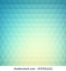 Light blue, abstract geometric modern background, mosaic vector triangular shapes, brochure template design, poster for presentation