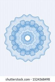 Light blue abstract linear rosette. Vector Illustration. Detailed.