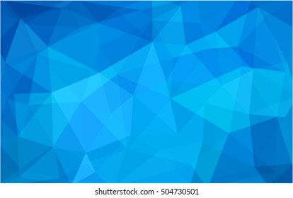 Light blue abstract mosaic background. Brand-new colored illustration in blurry style with gradient. A new texture for your design.