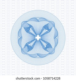 Light blue abstract rosette