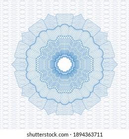 Light blue abstract rosette. Vector Illustration. Detailed.