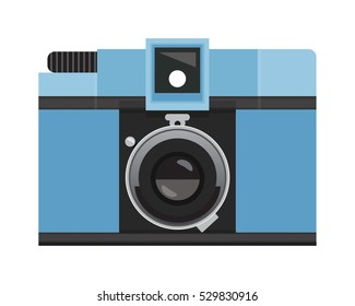 Light Blue Analog Film Camera