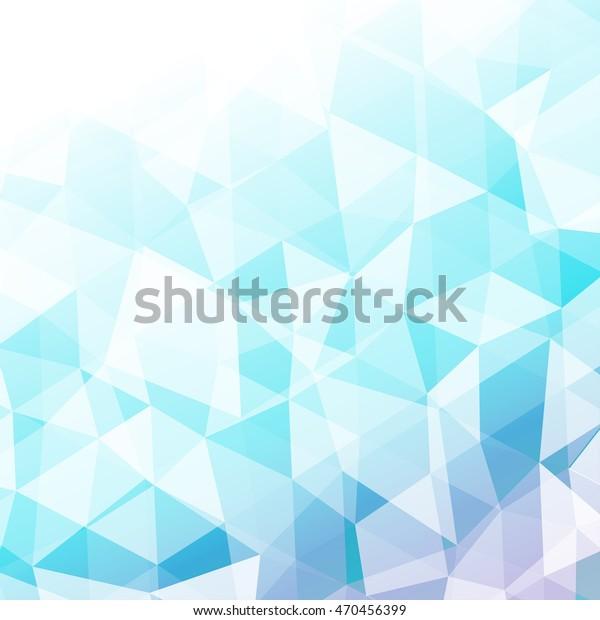 Light Blue Background Transparent Triangles Polygonal Stock