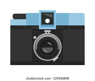 Light Blue and Black Analog Film Camera
