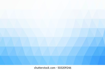 Light blue blurry triangle template. Colorful illustration in abstract style with gradient. The completely new template can be used for your brand book.