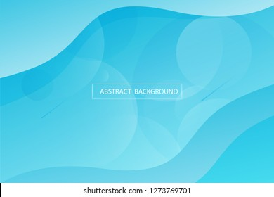 Light blue and circle geometric shapes on ocean blue , bright background. Creative illustration with smooth soft gradient.Design in eps10 vector illustration.