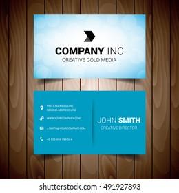 Light Blue Corporate Business Card