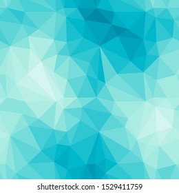 Light blue faceted vector texture. Triangular seamless pattern. Geometric abstract background.