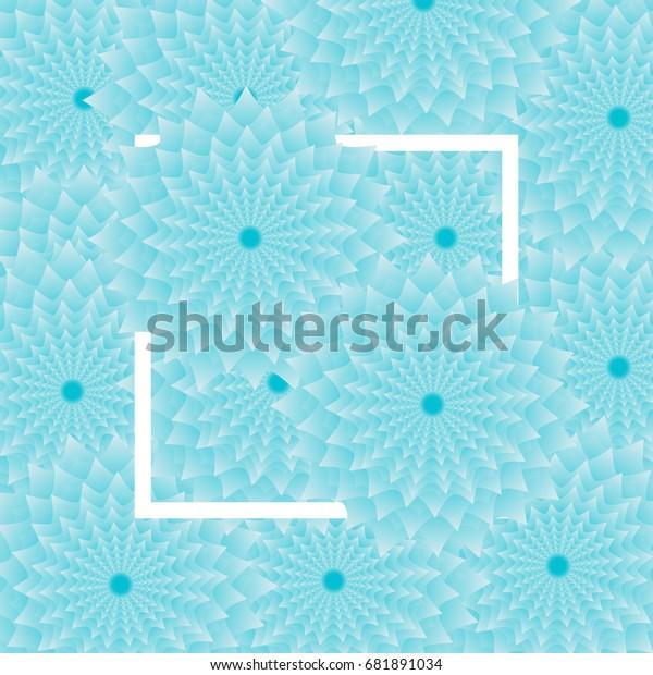 Light Blue Flower Background White Frame Stock Vector
