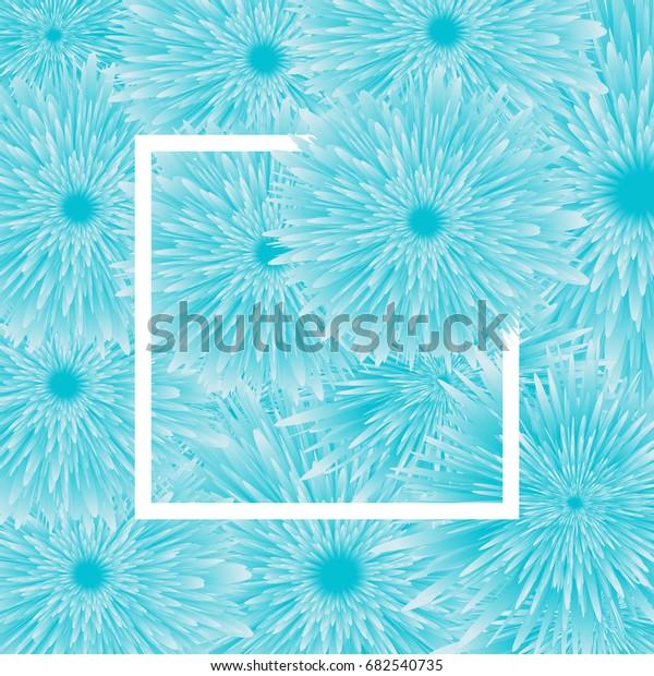 Light Blue Flower Background White Frame Royalty Free
