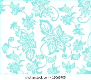 Light blue flowery pattern