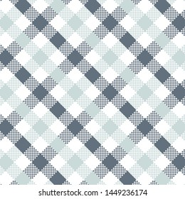 Light Blue Gingham pattern. Texture from squares for - plaid, tablecloths, clothes, shirts, dresses, paper, bedding, blankets, quilts and other textile products. Vector illustration EPS 10