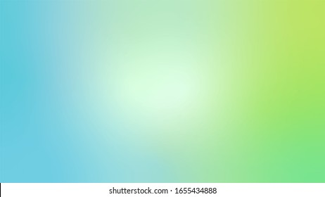 Light Blue and Green abstract blurred gradient Vector background. Colorful illustration with blurry effect for wallpaper, baner, card, brand book, magazine or brochure in 16 : 9 resolution