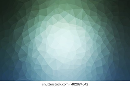 Light blue, green abstract polygonal template. A sample with polygonal shapes. The elegant pattern can be used as part of a brand book.