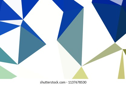 Light Blue, Green vector abstract polygonal pattern. Triangular geometric sample with gradient.  A new texture for your web site.