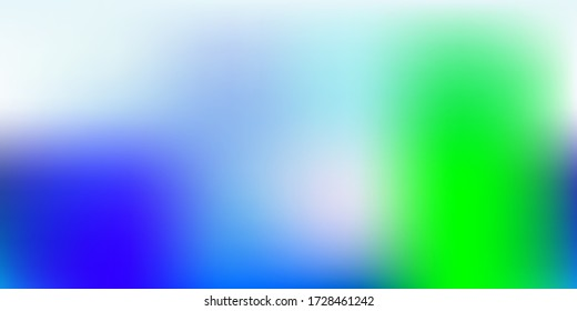 Light Blue, Green vector abstract blur texture. Colorful illustration with gradient in abstract style. Your design for applications.