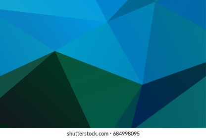 Light Blue, Green vector abstract mosaic background. Triangular geometric sample with gradient.  A new texture for your design.