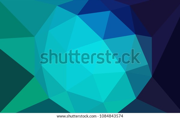 Light Blue, Green vector abstract polygonal background. Polygonal abstract illustration with gradient. Brand new design for your business.