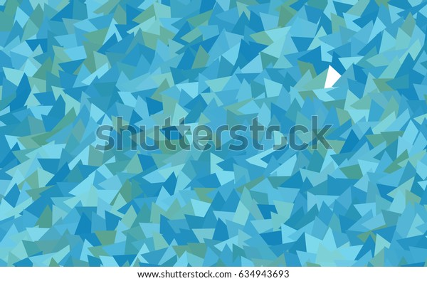 Light Blue, Green vector abstract colorful background, which consist of triangles. Pattern with colored triangles on white background.