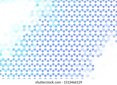 Light Blue, Green vector backdrop with curved lines. A completely new colorful illustration in simple style. Template for cell phone screens.