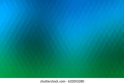 Light Blue, Green vector background of rectangles and squares. Style quilt and blanket. Geometrical rectangular pattern. Repeating pattern with rectangle shapes.